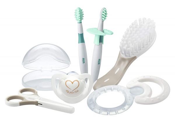 NUK Babypflege Welcome Set, perfekte Erstausstattung für Neugeborene, 7 NUK Produkte in einer schöne