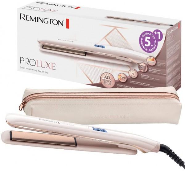 Remington Glätteisen PROluxe (OPTIheat-Technologie für lang anhaltende Styling-Ergebnisse in nur ein