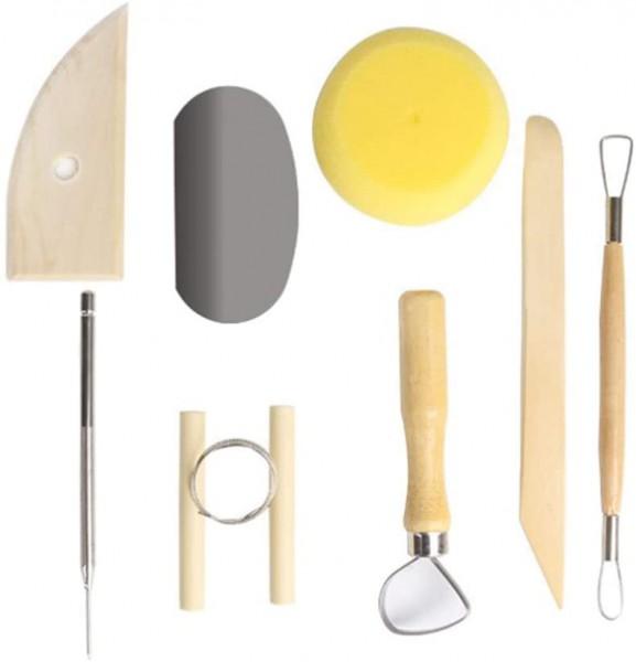 8 Stück Töpferwerkzeug-Set Keramik Ton Werkzeugsatz,Modellierwerkzeug Clay Keramik Sculpting Ton Wer