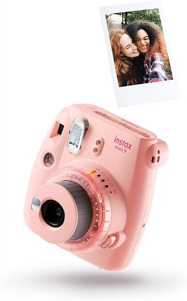 Instax Mini 9 Clear Pink inkl. Film für 10 Aufnahmen