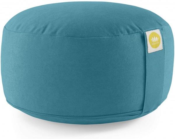 Lotuscrafts Yogakissen Meditationskissen Rund Lotus - komfortable & entspannte Mediation - Sitzhöhe