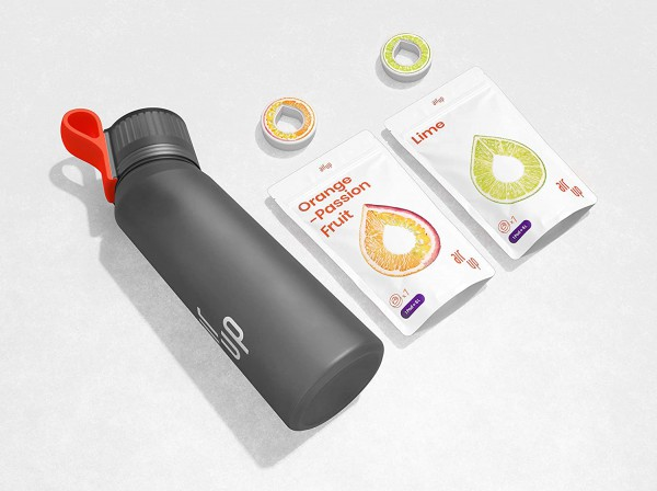 air up® Starter-Set (Farbe: anthrazit) inkl. zwei Pods in den Geschmacksrichtungen Limette und Orang