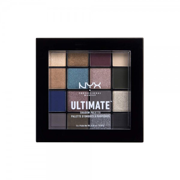 NYX Professional Makeup Ultimate Shadow Palette, Lidschattenpalette, 16 Farbtöne, Schimmernd und Met