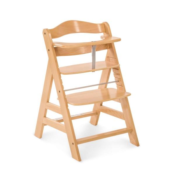 Hauck Alpha Hochstuhl Holz Kinderhochstuhl ab 6 Monaten, mitwachsend, höhenverstellbar, bis 90 kg be